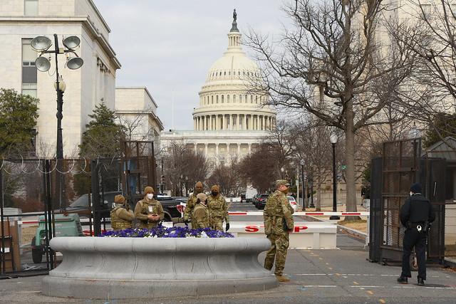 Washington DC Lockdown 27 - National Guard Troops and Capitol