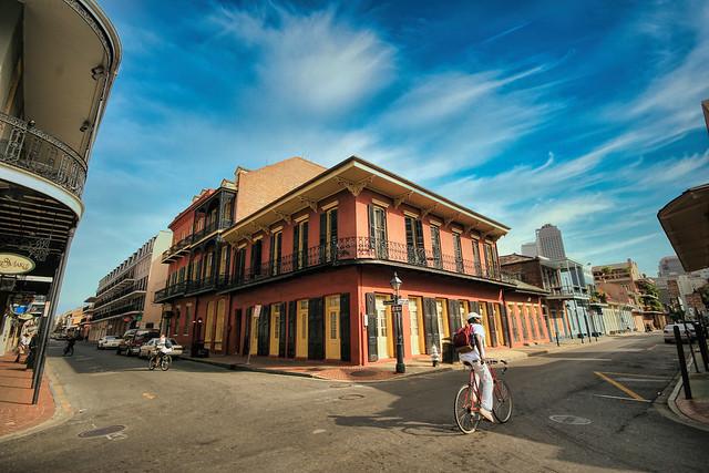 Biking through New Orleans, Louisiana