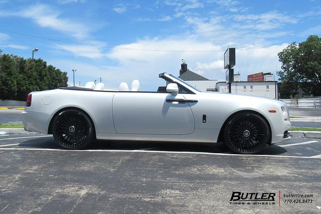 Rolls Royce Dawn with 22in Avant Garde AGL65 Wheels and Pirelli PZero Nero GT Tires