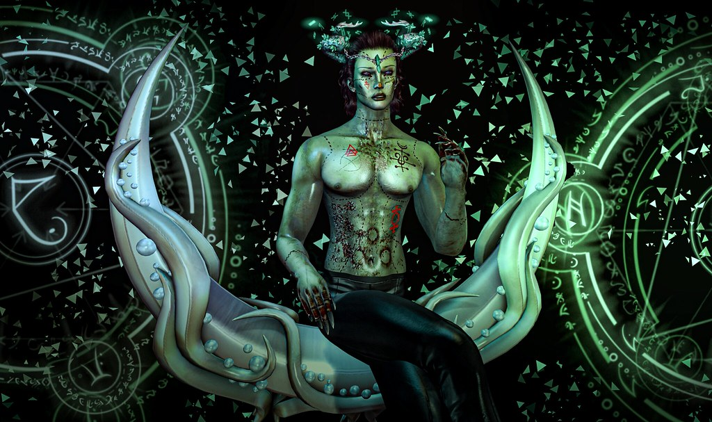 Midnight Order Event - Stargazer Variety Ascedh Skin and Ernetari Horns & Petrichor/Plastik Lynuen Moonchair