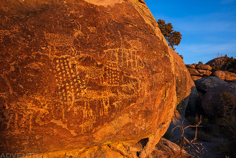 Petroglyphs at Sunrise