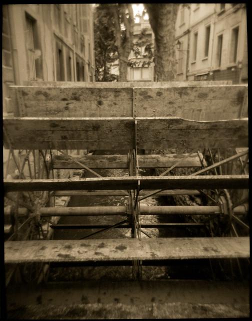 Waterwheel, Rue des Teinturiers, Avignon, France, 2005
