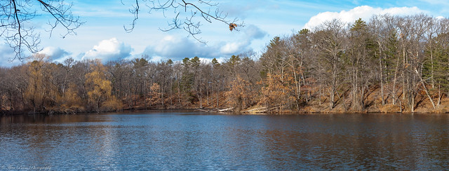Horn Pond's scenic royal panorama