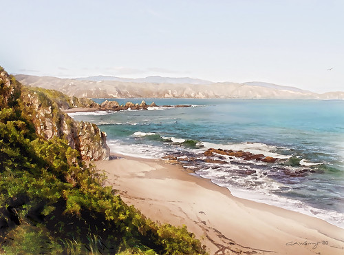 <p>My popular Breaker Bay image revisited and reworked 2020 - 2021. A bit more painterly than the earlier image.</p>