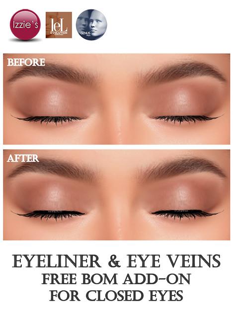 Free Eyeliner & Eye Veins (BOM add-on for Closed Eyes) for TLC
