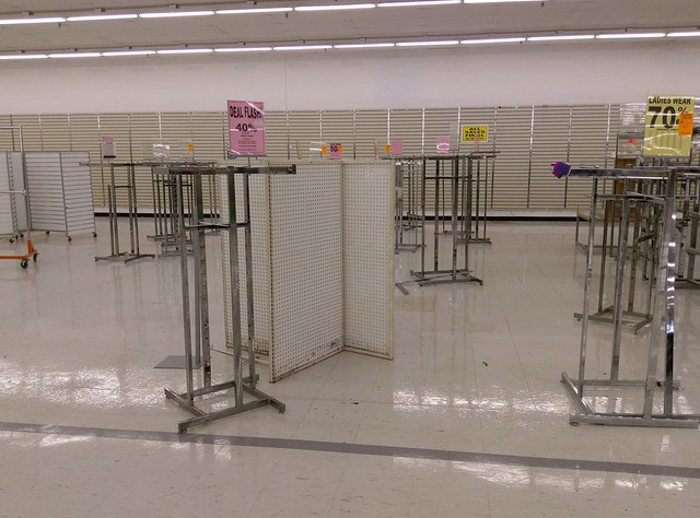 Muscle Shoals Kmart, recently decommissioned fixtures