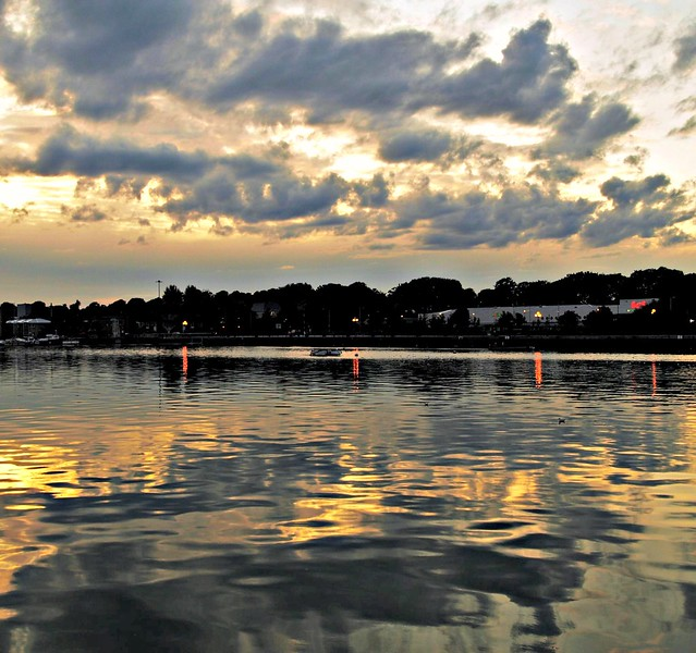 Cloud reflections over Preston Docks