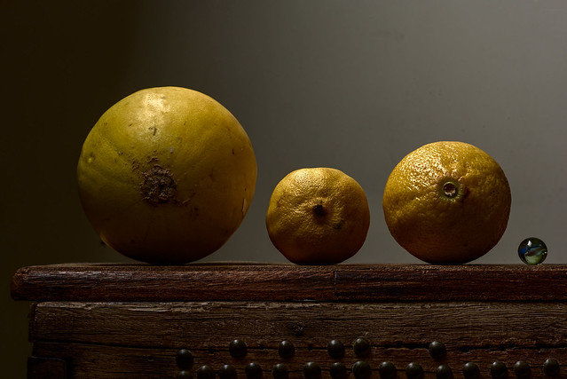 A Melon, Two Lemons and a Marble