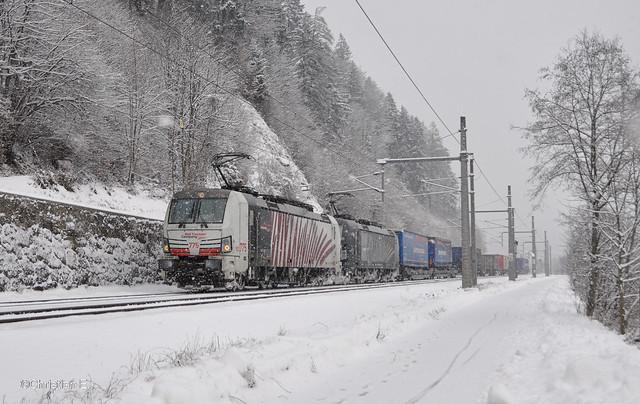 Lokomotion 193 775+193 662 mit KLV, Kufstein