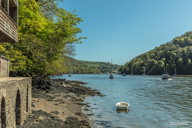 Famous estuary of the River Dart from