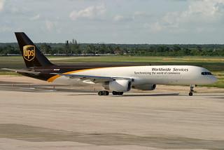 N469UP. B-757/200F. UPS. SDQ.