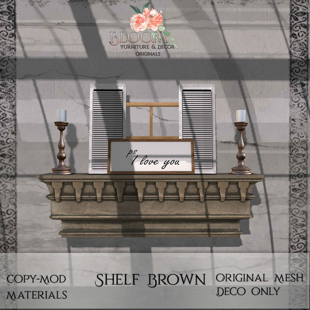 Bloom! – Shelf BrownAD