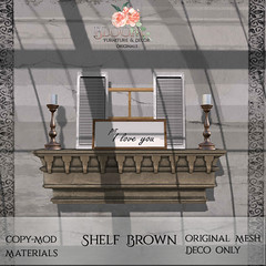 Bloom! - Shelf BrownAD
