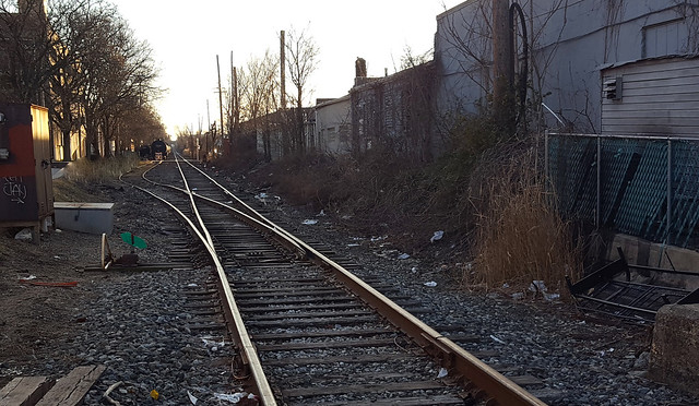 Train tracks deep in the heart of New Jersey by late afternoon light. Two chemical cars in the background. I was down there over the weekend and this view caught my eye. The place reminded me of a similar photo from 1973 shown below. Jan 2021