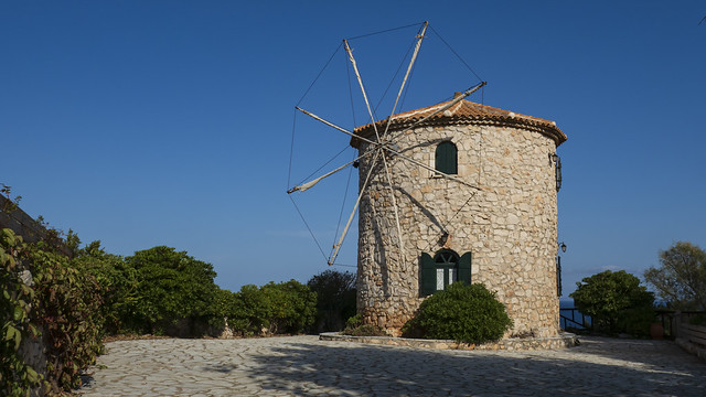old windmill on Zykanthos, Greece
