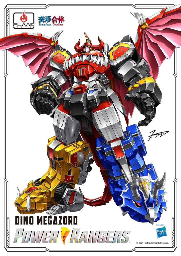 FLAME TOYS 合機巧將推出《金剛戰士》Dino Megazord(大獸神) 具備合金零件、變形合體機構!