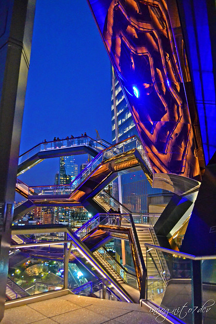 Blue Hour at The Vessel Hudson Yards Manhattan New York City NY P00777 DSC_2549