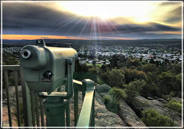 Sunset over Stanthorpe Queensland.