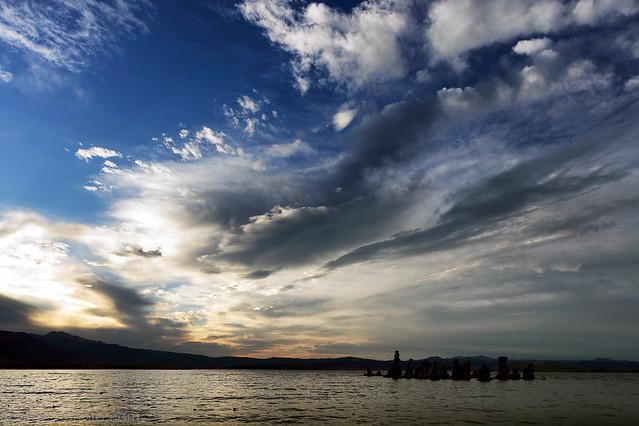 Clouds and Mono Lake, Mono County, CA
