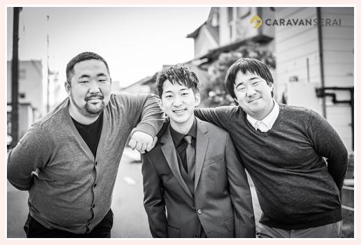 成人式記念の兄弟写真 男子3人