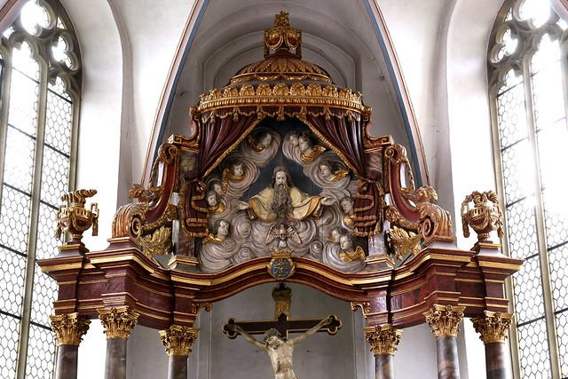 Warendorf, Westfalen, Klosterkirche, Ziborienaltar , detail