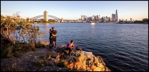 harbour sydney sydneyharbour ballsheadreserve wavertonpeninsular sunset summer city skyline cityskyline sydneyskyline