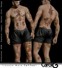 Insane Full Male Tattoo [CAROL G]