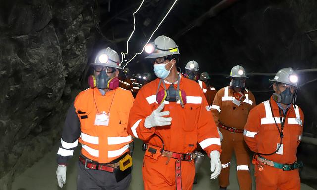 Presidente ejecutivo, Octavio Araneda y Biministro de Energía y Minería, Juan Carlos Jobet