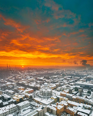 Magic sunrise | Kaunas aerial #18/365