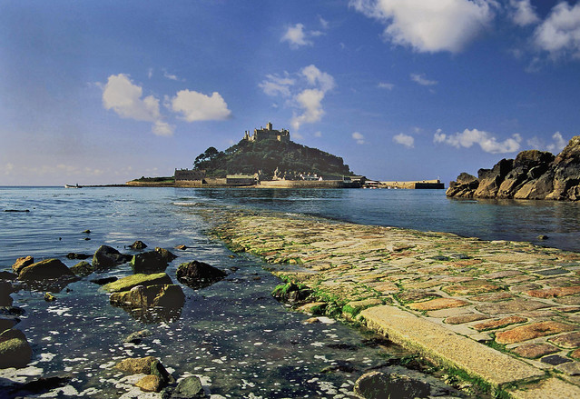 St Michael's Mount on a sunny morning