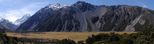 Mt Cook valley floor