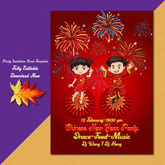 Party flyer invitation card