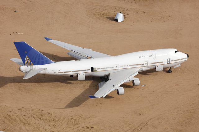 N175UA, Boeing 747-400, United Airlines, Victorville - California
