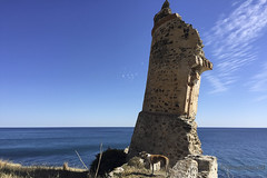 Leaning Tower of Nerja with Leon