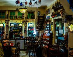 Inside Yesterday's World Shop - Bar - Bruges (Velvia 100 Film Effect) (Panasonic LX100-II)