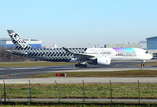 """F-WWCF Airbus A350-941 s/n 002 with """"Airspace Explorer"""" * Toulouse Blagnac 2021 *"""