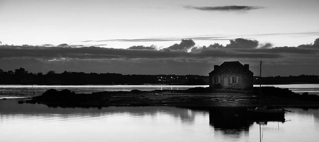 Morbihan, Saint-Cado, B&W, 20
