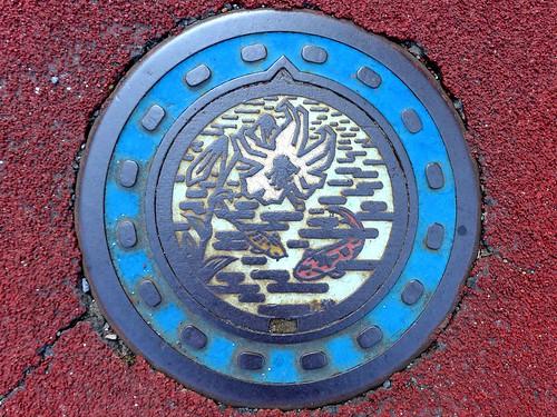 Yu Yamaguchi, manhole cover 2 (山口県由宇町のマンホール2)