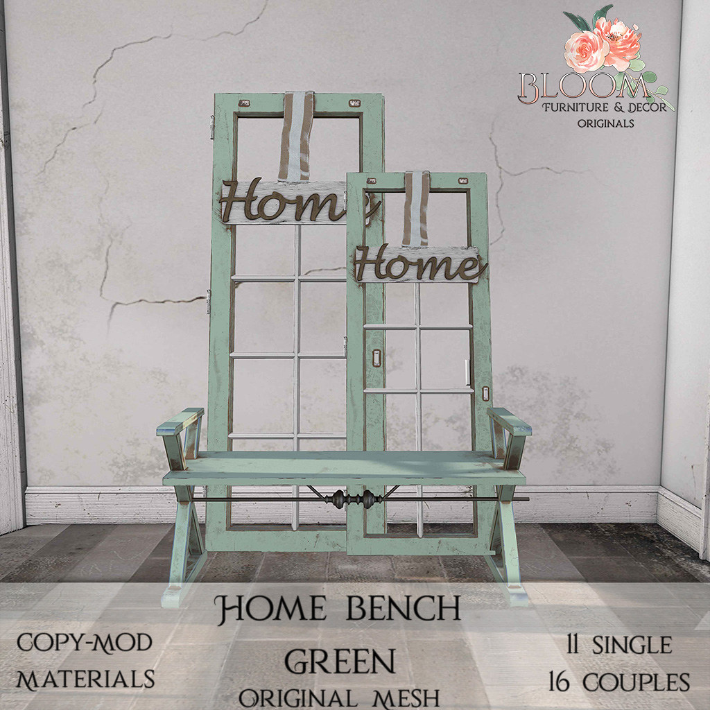 Bloom! – Home bench GreenAD