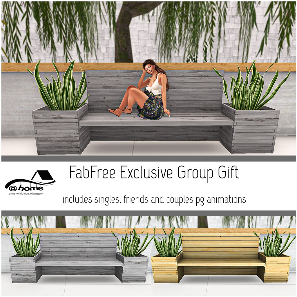@home: Gift - Wooden planter bench ad v2