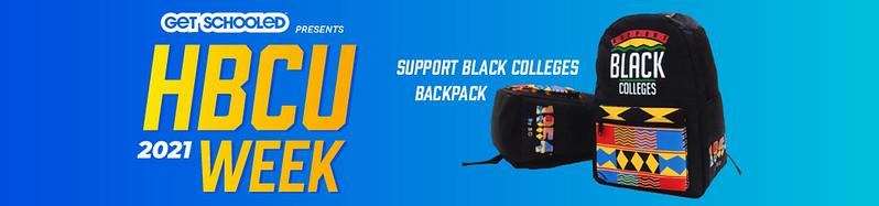 Banner for HBCU backback giveaway