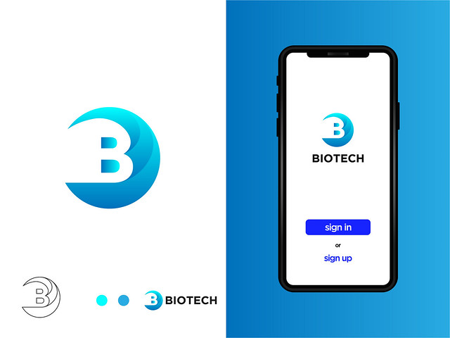 B Letter Logo - Biotech app (unused)