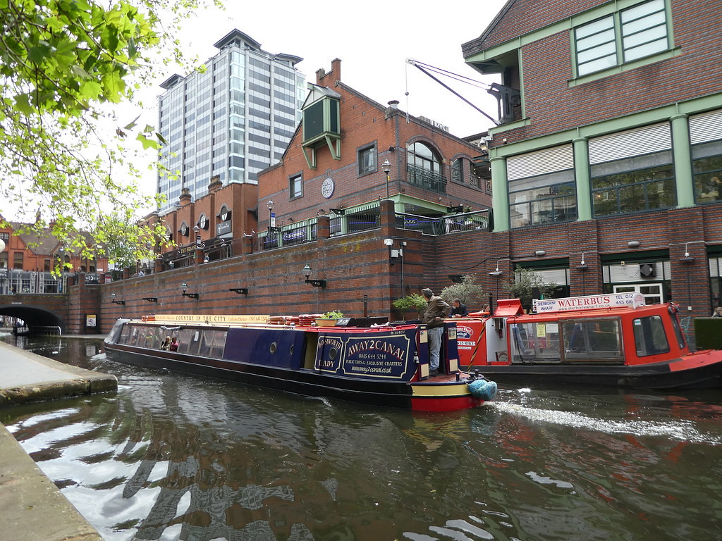 Canal at Brindley Place, Birmingham