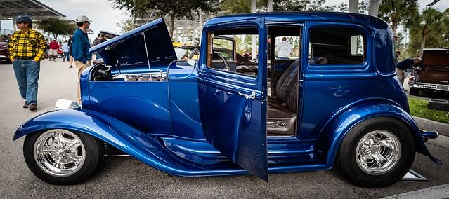 Naples, Florida - Shriner's Car Show - Blue Beauty