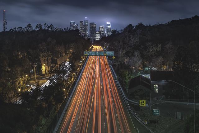 los angeles, california, dtla, hollywood, traffic, downtown