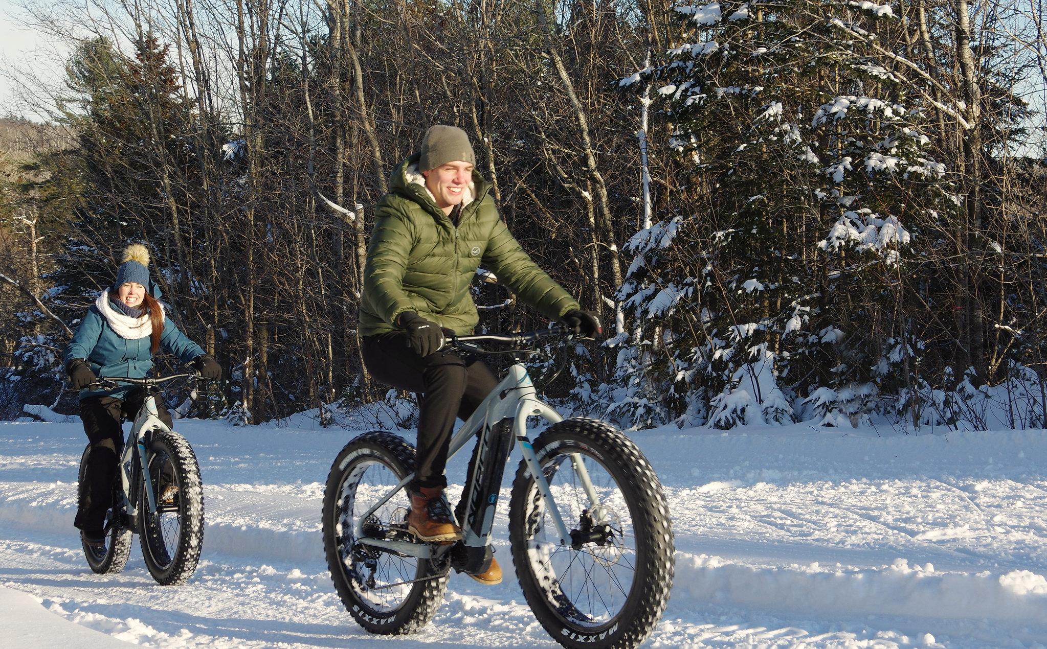 Vélo des neiges ou fat bike sur nos 35 km de sentiers
