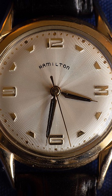 Macro photography 1:1 Still Life - 14 Kt Watch ('57 Hamilton Swiss)