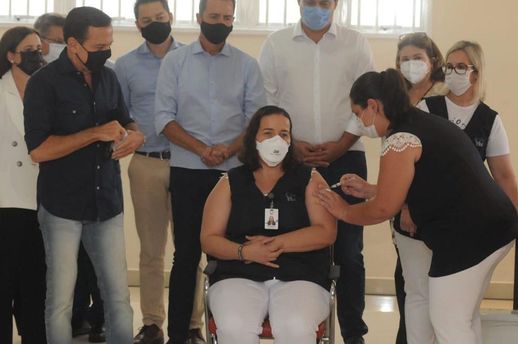 Governador João Doria acompanha o início da imunização em S.J.Rio Preto