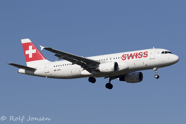 HB-JLR Airbus A320 Swiss Airlines Heathrow Airport EGLL 26.02-19