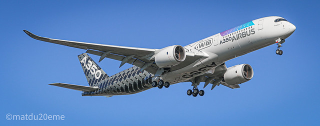 Airbus A350XWB with a new sticker